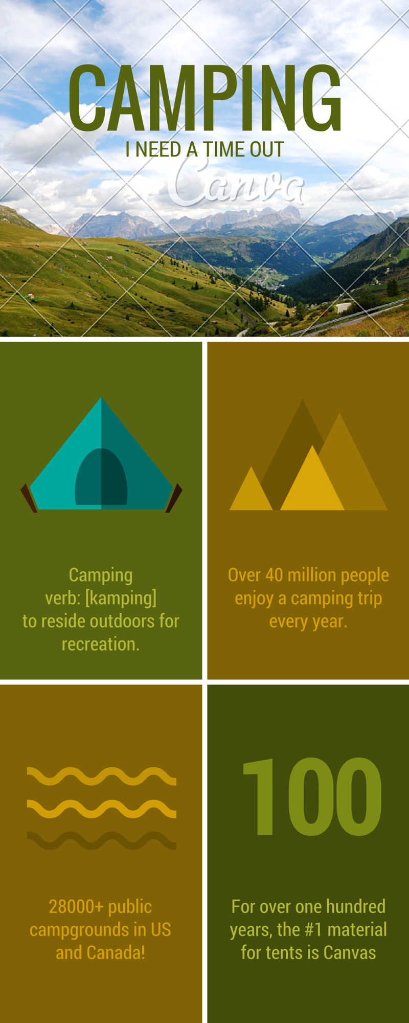 Camping - I Need A Time Out - Infographic