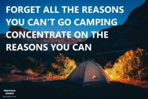 concentrate on camping