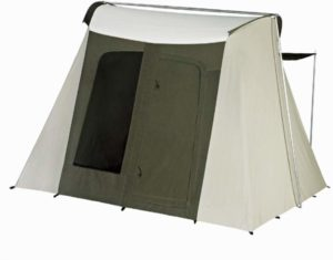 Flex Bow Canvas Tent by Kodiak back side